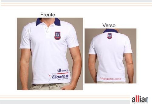 Criação e produção de Camiseta Institucional